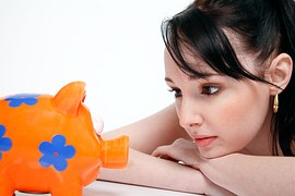 woman piggy bank